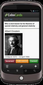 Screenshot Karteikarten App
